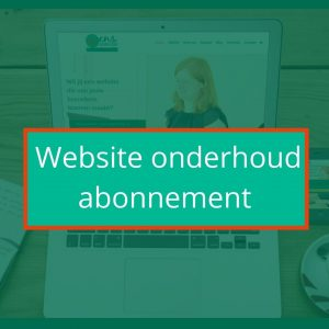 Website onderhoud abonnement